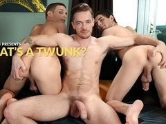 Lucas Knight & Trent Ferris & Sam Truitt in What's A Twunk? XXX Video