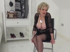 Unfaithful english mature gill ellis shows her huge breasts