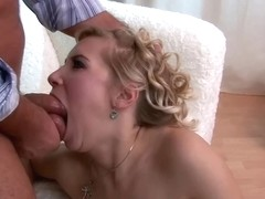 Cindy is a well known, slutty blonde woman who likes to get fucked and eat some cum