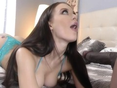 Hot Brunette Fucked And Swallow Cum