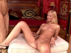 Amazing pornstar Cindy White in crazy masturbation, blonde adult movie