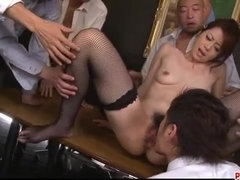 Serious group pleasures for amazing Maki Hojo - More at Pissjp.com