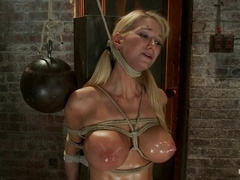 Impaled With A Huge Dildo W/Vibrator Stuck Right On Her Clit. Breath Control Makes This Girl Cum -.