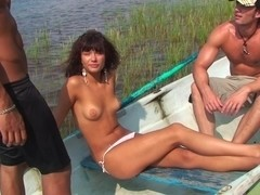 Agnes & Bella & Eniko & Julia Taylor in a hot young xxx video with naked two guys and gal