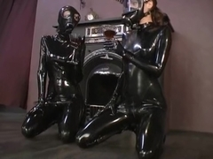 latex girls in gasmasks