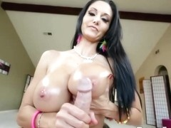 Busty woman, Ava Addams is using her milk jugs to give a hard- on to her lover