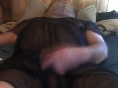 Crossdressing masterbation cumshot