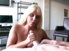 Busty milf Karen Fisher pleasures her lover in pov