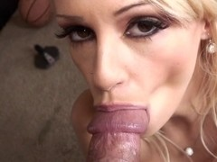 Erica Fontes sucks monster rod POV