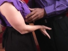 Amazing blonde Kaylee Brookshire getting huge ebony stick