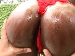 Black cutie with big tits and hot ass Persia ready for anal