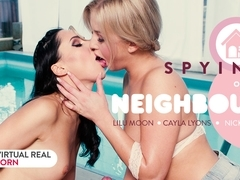 Cayla Lyons  Lilu Moon  Nick Ross in Spying on our neighbour - VirtualRealPorn