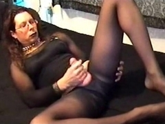 Transvestite Enjoying with pantyhose