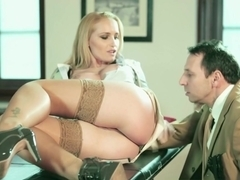 Crazy pornstar Kathia Nobili in Incredible Stockings, Blonde adult scene