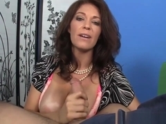 Classy Milf Tugging And Titfucking Dick Pov