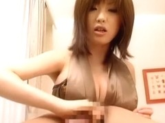 Crazy Japanese model Rio Hamasaki in Hottest Big Tits JAV movie