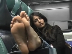 Priya's bare soled shame - Indian bare feet on train