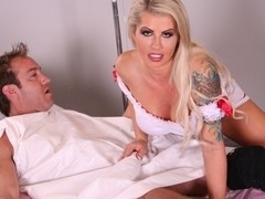 Nurse Brooke Haven has massive tits and a wet cunt