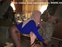 Hijab Wearing Arab Prostitute Bangs Western Soldiers