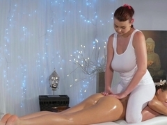 Hottest pornstars Tina Kay, Lucy Li in Crazy Massage, Fingering adult scene