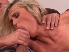 Horny pornstar Laura Crystal in hottest fetish, blonde adult clip