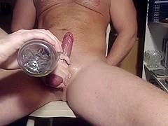 Me milking teasing hung veiny alpha stud - post cum rubbing