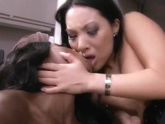 Asa Akira and Diamond Jackson pleasure Keiran Lee