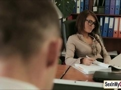 Sexy ###ary Alexis Brill likes to make her boss cum