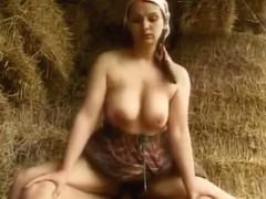 Nude girl in lake