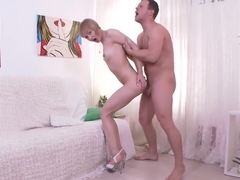 Beauty Small Teen Hard Fucked in the Narrow Asshole by a Big Cock