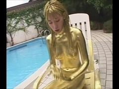 Japanese hotty with gold paint