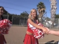 Ashley and Stephanie Learn The Secret Cheer