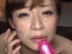 Hot japanese bukkake scene