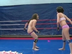 Teens Connie and Karen have chick fight