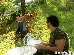 Military Fucks The Gardener Outdoor