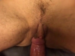 Crazy homemade shemale video with Guy Fucks, Creampie scenes