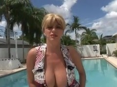 BUSTY MILF PENNY PORSCHE FUCKED BY THE POOL