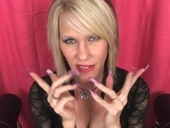 cum on MILFs fingernails