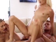 Big Tit Stepsis Gets Ed Into Sucking Cock