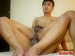 Asian amateur bareback fucked before cumshot