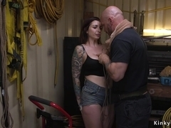 Busty curved hottie anal banged bdsm