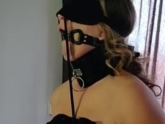 Tied up amateur BDSM slut cums multiple times