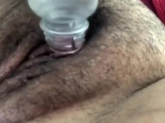 Rubbing and pumping my slutty clit