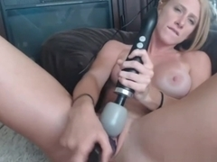 Hot Sexy Blonde Milf Enjoys Her Amazing Sex Toy