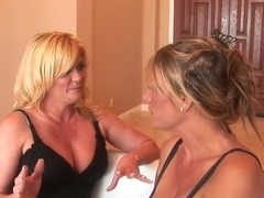 Amazing pornstars Debi Diamond and Ginger Lynn in crazy foot fetish, blonde porn video
