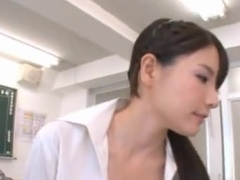 A Craving For Cum Has Teacher Rui Saotome Sucking Dick