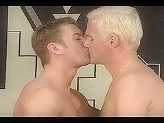 Super hot gay guys masturbate until he climaxes hard