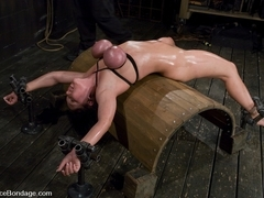 Claire Dames in Claire DamesHer huge tits, brutally bound and oiled Her body spread and tortured -.