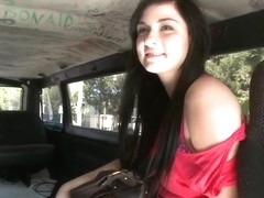 Saucy Mandy Sky behaves kinkily on the Bang Bus