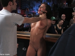 Cecilia Vega Is Bound, Fucked And Used By A Bar Full Of Strangers - PublicDisgrace